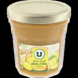 Confiture de lemon curd, crème de citron à tartiner U, pot de 380g