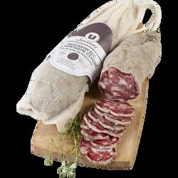 Saucisson sec de montagne cendré Viande de Porc Française U SAVEURS