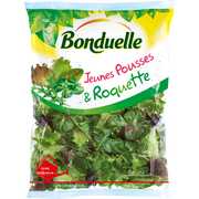 Bonduelle Jeunes Pousses(mâche,laitue Verte/rouge,betterave Rouge) Et Roquette,bonduelle, Sachet 145g