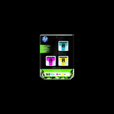 Pack 3 cartouches HP couleur n°363