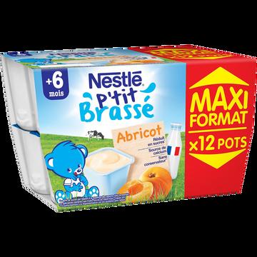 Nestlé P'tit Brassé Abricot Nestle Dès 6 Mois, 12x100g