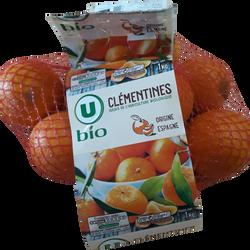 Clementines oronules, U BIO, calibre 1/2, catégorie 2, Espagne, girsac1kg
