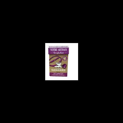 Capsules de café moka compatibles nespresso LES CAFES GAILLARD, x10