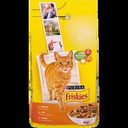 Croquettes pour chat au poulet, foie et légumes Vital Heart FRISKIES,4kg