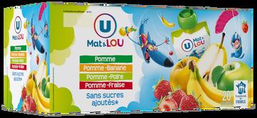 Lou Gourdes Aux 4 Parfums Sans Sucre Ajouté U Mat & Lou, 20x90g