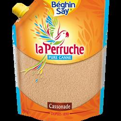 Sucre poudre cassonade La Perruche BEGHIN SAY, doypack de 750g