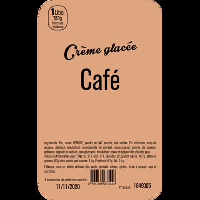 Crème glacée café LA TURBINE A SAVEURS, bac 1 litre