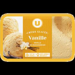Crème glacée vanille U, 750g