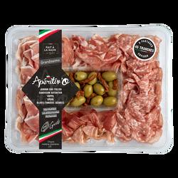 Chiffonnade Grandissimo (jambon cru, coppa, speck, saucisson, taralli), 280g