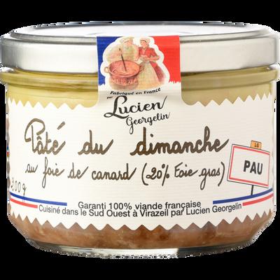 Pâté du dimanche au foie gras, LUCIEN GEORGELIN, bocal de 200g