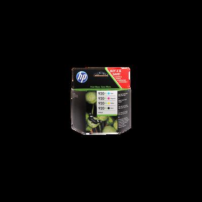 Pack 4 cartouches d'encre HP pour imprimante, 920XL, sous blister