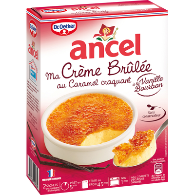 Préparation pour crème brûlée aux oeufs ANCEL, 2 sachets, 200g
