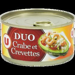Duo crabe et crevettes U, 121g