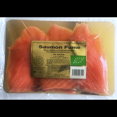 Saumon fumé d'Ecosse bio Claude Traiteur 6/8 tranches 300g
