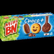 Mini biscuits fourrés nappés au chocolat au lait BN, 1 paquet de 170g