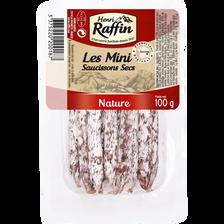 Mini saucissons natures HENRI RAFFIN, 100g