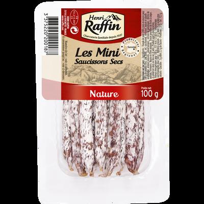 Mini saucissons natures, HENRI RAFFIN, 100g