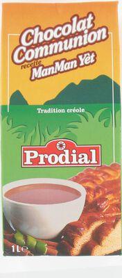 Chocolat communion recette ManMan Yèt PRODIAL, brique de 1l