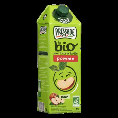 Nectar pomme BIO nouvelle recette PRESSADE, brique de 1,5l