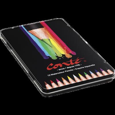 Crayon Aquarellables CONTE, 12 unités