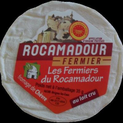 Rocamadour AOP fermier au lait cru de chèvre, 20% de MG, 35g
