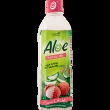 Aloe Drink For Life Boisson À L'aloe Vera Saveur Litchi , Bouteille De50cl