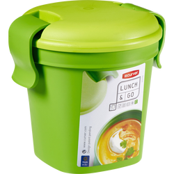 Mug à soupe en plastique, 0,4l, vert