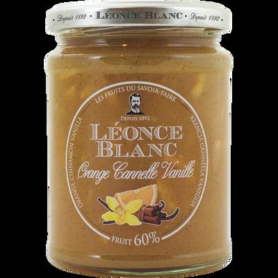 Préparation oranges cannelle vanille 60% LEONCE BLANC, 330g