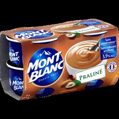 Crème dessert praliné MONT BLANC, 4x125g