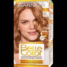 Coloration permanente blond miel ambré, BELLE COLOR, n°7.33