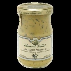 Moutarde au basilic EDMOND FALLOT, bocal 10cl