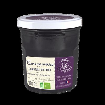 Confiture extra de cerises noires bio MATIN DES PYRENEES, 370g
