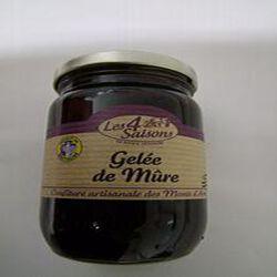 Gelée de Mûre artisanale, LES 4 SAISONS, pot de 315g.