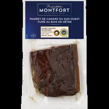 1/2 magret de canard fumé au bois hêtre, IGP Sud Ouest, MAISON MONTFORT, 1 pièce, 130g 130 g