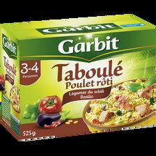 Taboulé poulet rôti légumes du soleil basilic GARBIT, étui de 525g