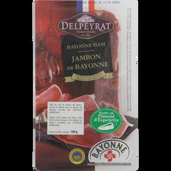 Jambon de Bayonne IGP piment d'Espelette DELPEYRAT, 6 tranches 100g