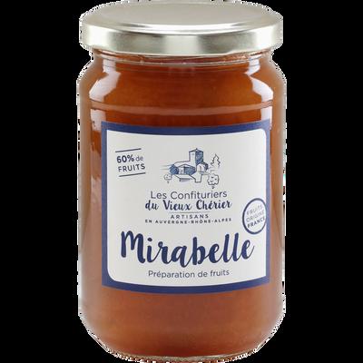 Confiture mirabelle LES CONFITURIERS DU VIEUX CHERIER, 350g