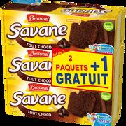 Brossard Gâteaux Tout Chocolat Savane, 2 Paquets De 300g + 1 Offert