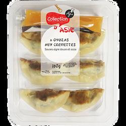Gyozas aux crevettes + 2 sauces, 160g