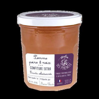 Confiture de pomme, poire et noix MATIN DES PYRENEES, 370g