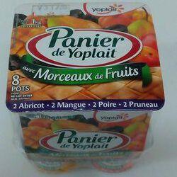 PANIER DE YOPLAIT ABRICOT, MANGUE, POIRE, PRUNEAUX 8X125G