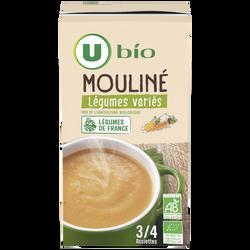 Mouliné légumes variés U BIO, brique de 1 litre