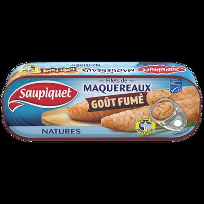 Filets de maquereaux fumé nature SAUPIQUET, boîte de 120g