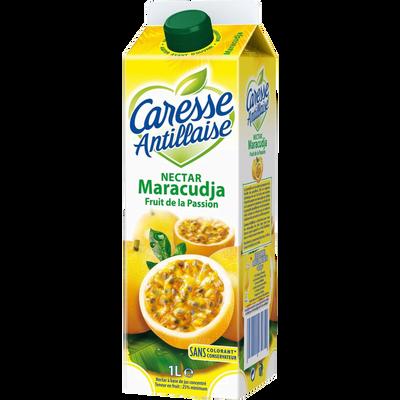 Nectar pasteurisé de maracudja fruit passion CARESSE ANTILLAISE, brique de 1l