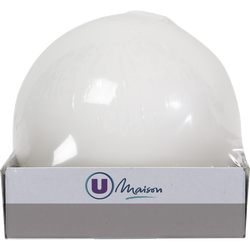 Bougie boule U MAISON, 78mm, blanche