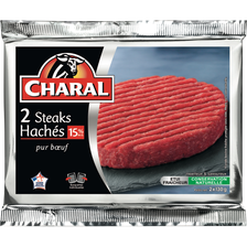 Charal Steack Haché, 15% Mat.gr, , France, 2 Pièces, 260g