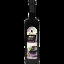 Vinaigre balsamique 6° U SAVEURS, bouteille en verre de 50cl
