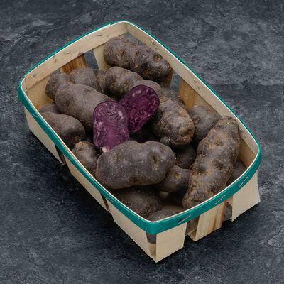 Pomme de terre, Blaue Saint Galler Prunelle, de consommation, calibre35/55mm, cat.1, France, barquette 1kg