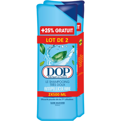 Shampoing anti-pelliculaire DOP, 2 flacons de 500ml