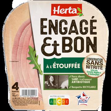 Herta Jambon Engagé Et Bon À L'étouffée Herta 4 Tranches 140g